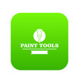 brush tool icon green vector image vector image