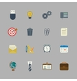 Business collection of flat stationery supplies vector image vector image
