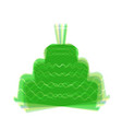 cake with candle sign colorful icon vector image vector image