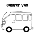 Camper van of vector image vector image