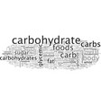 carbohydrates why size matters vector image vector image