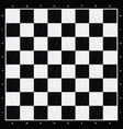 chess board in black and white wood vector image vector image