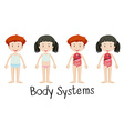 Children and body systems vector image vector image