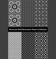 collection moroccan motif tile patterns vector image