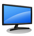 computer monitor cartoon isolated vector image vector image