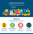 cryptocurrency crash website design vector image vector image