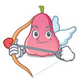 cupid rose apple character cartoon vector image