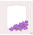 Decorative vintage card with lilac clematis vector image