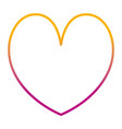 degraded line beauty heart romance symbol style vector image vector image