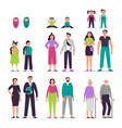 different ages people couples man and woman vector image