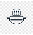 dough concept linear icon isolated on transparent vector image