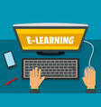 e-learning background flat style vector image