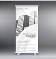 elegant white standee roll up banner design vector image vector image