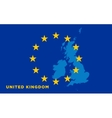 Flag of European Union with United Kingdom on vector image vector image