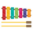 flat colorful xylophone toy vector image vector image