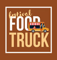 food truck festival vector image vector image