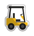 forklift machine logistic icon vector image vector image