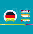 germany national team schedule matches in the vector image vector image