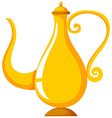 Golden lamp on white background vector image vector image