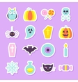 Halloween Party Stickers Set vector image