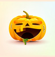 jack-o-lantern terrible facial expression smiley vector image vector image
