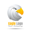 King Eagle Volume Logo Colorful 3d Design vector image