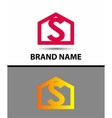 Letter S logo symbol icon vector image vector image