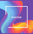liquid poster bright colorful wave smoke shapes vector image vector image