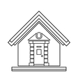 Little house icon outline style vector image vector image