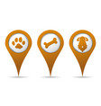 location pet icon vector image vector image