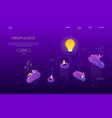 mindfulness concept - modern isometric web vector image