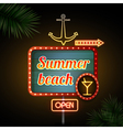 Neon sign Summer beach vector image