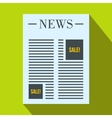 Newspaper with space for ad icon flat style vector image