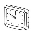 on clock icon doodle hand drawn or outline icon vector image vector image