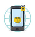 online delivery from smartphone vector image