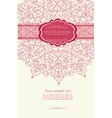 Pink invitation with lace template vector image