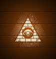 pyramid on wooden background vector image vector image