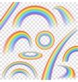 Rainbows Transparent Set vector image vector image