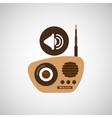 retro music design vector image vector image