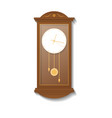 retro wooden pendulum clock icon vector image