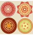 round oriental pattern vector image vector image