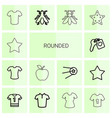 rounded icons vector image vector image