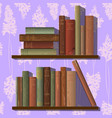 rows of old books vector image vector image