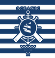 sailing icon blue vector image vector image