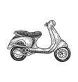 scooter sketch vector image