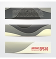set of abstract grey banners three background vector image vector image