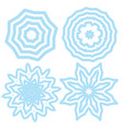 set of elements for design stylized snow vector image vector image