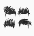set of men hairstyle and haircuts isolated vector image vector image