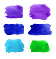 set of navy turquoise blue violet green vector image vector image