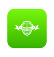 shield knight icon green vector image